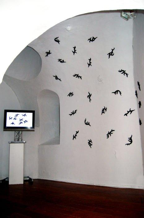 LA ESPORA ALBINA 2008, instalacion y video, silicona, medidas variables, Cadiz