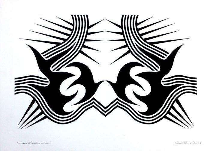 RORSCHACH VII, gouache papel 70 x 50 cms